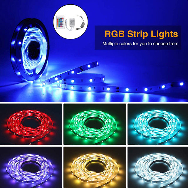 RGB LED USB Power Remote Control decor light for Bedroom Living room LED String Lights Party Garden Home Wedding Decor