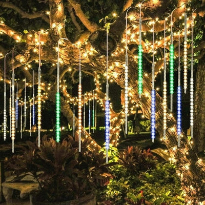 LED Meteor Shower Lights 30CM 50CM Waterproof Xmas Decoration Light Led String Lights Party Christmas lights Outdoor Fairy Light