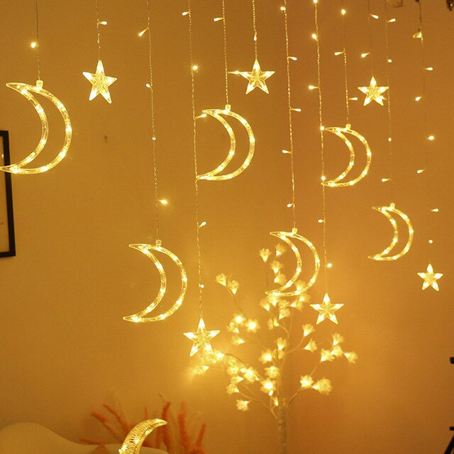 Moon and Stars LED String Lights