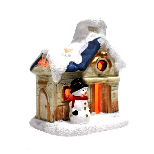 Led Christmas Snowman Glowing House