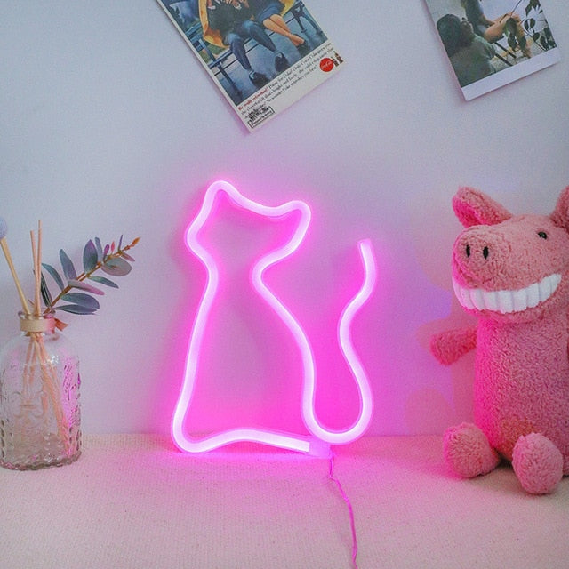 CAT Neon Decor Light