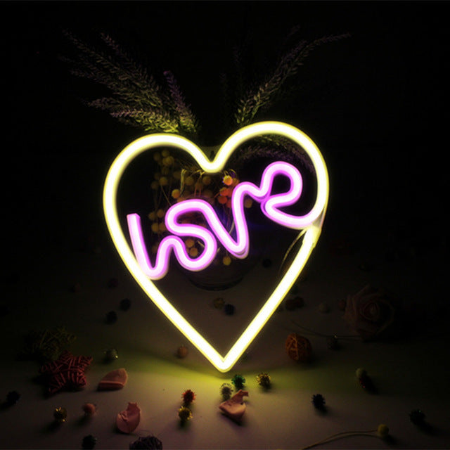 HEART, LOVE Neon Decor Light