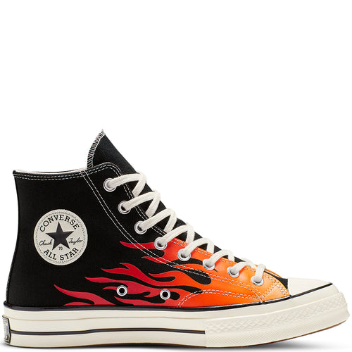 Converse Chuck 70 Archive Print High Top Lack/Enamel Red/Bold Mandarin