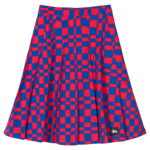 Stussy W' Gonna Sabi Checker Pleated Skirt