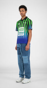 Daily Paper T-shirt Hootball Blue/Green 2