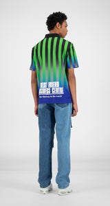 Daily Paper T-shirt Hootball Blue/Green 3