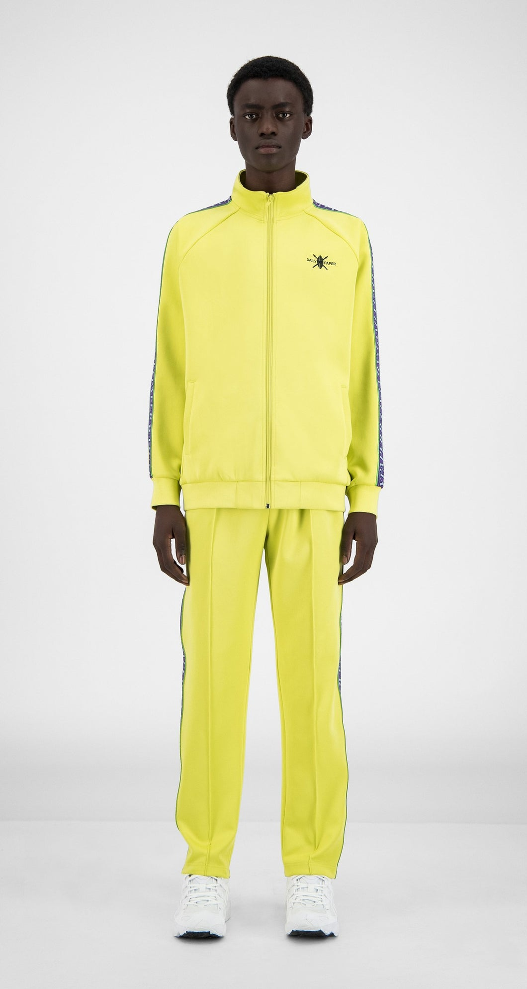 Felpa Daily Paper Tapevest Tracktop Canary Yellow 1