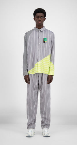 Daily Paper Camicia Hadee Grey Green Shirt