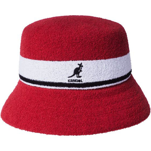 Kangol Bermuda Stripe Bucket Red - inside-soulfulsore