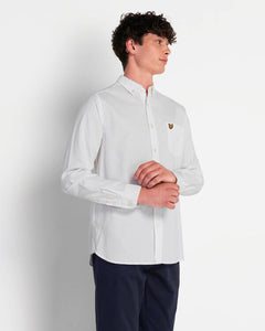 Lyle & Scott Camicia Oxford Regular Fit White indossata front 1