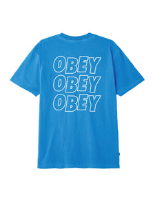 Obey T-Shirt Jumble Lo-Fi Pigment Sky Air - inside-soulfulsore