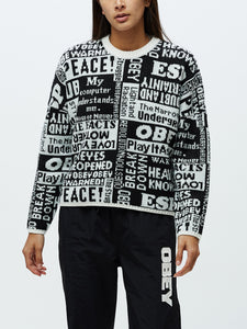 Obey Maglione Post Crewneck
