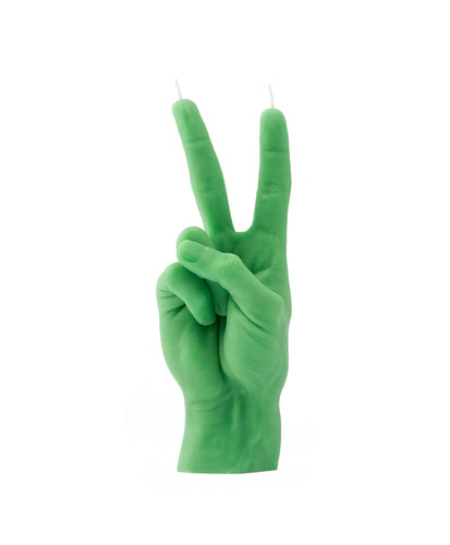 HAND GESTURE CANDLE VICTORY green