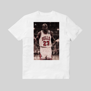 Michael Jordan I Can't Giving Up Trying T-shirt Bianca retro