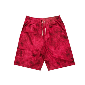 Paterson Costume Eastside Marble Hiker Short Red - inside-soulfulsore