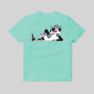 T-shirt Hot Dog Tee Nico189 x Sneaker Selecta Ciano back