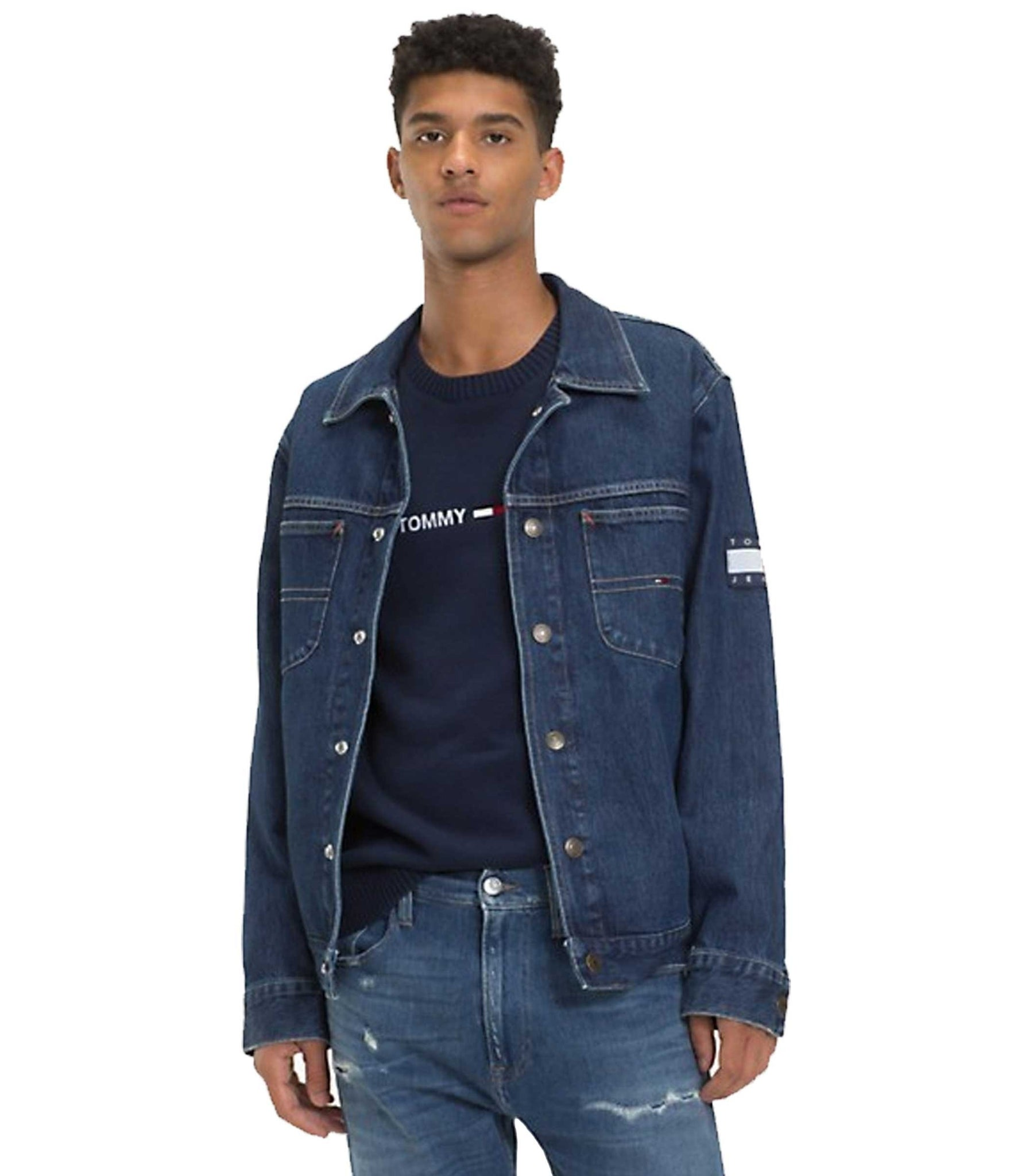 373742990c Tommy Hilfiger Giacca Oversize In Denim / Inside Store