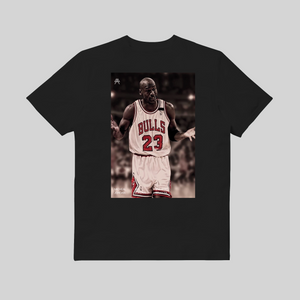 Michael Jordan I Can't Giving Up Trying T-shirt Nera retro