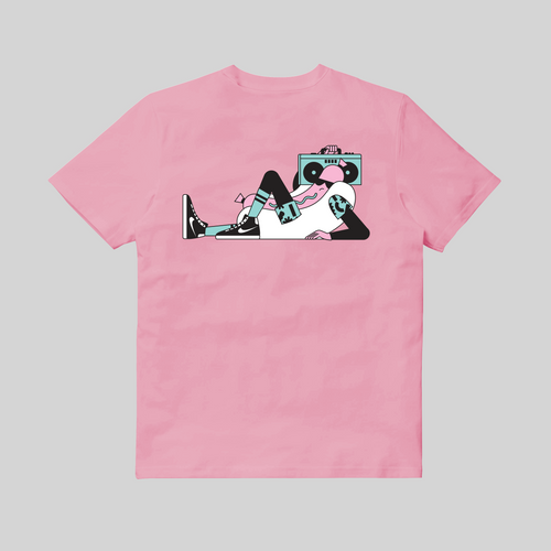 T-shirt Hot Dog Tee Nico189 x Sneaker Selecta Pink back