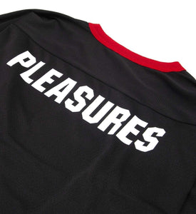 Pleasures Ribs Hockey Jersey Black