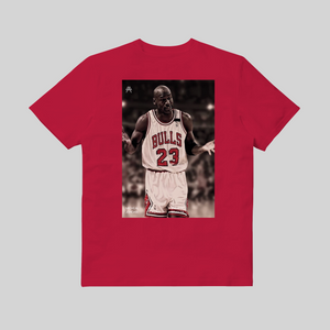 Michael Jordan I Can't Giving Up Trying T-shirt Rossa retro