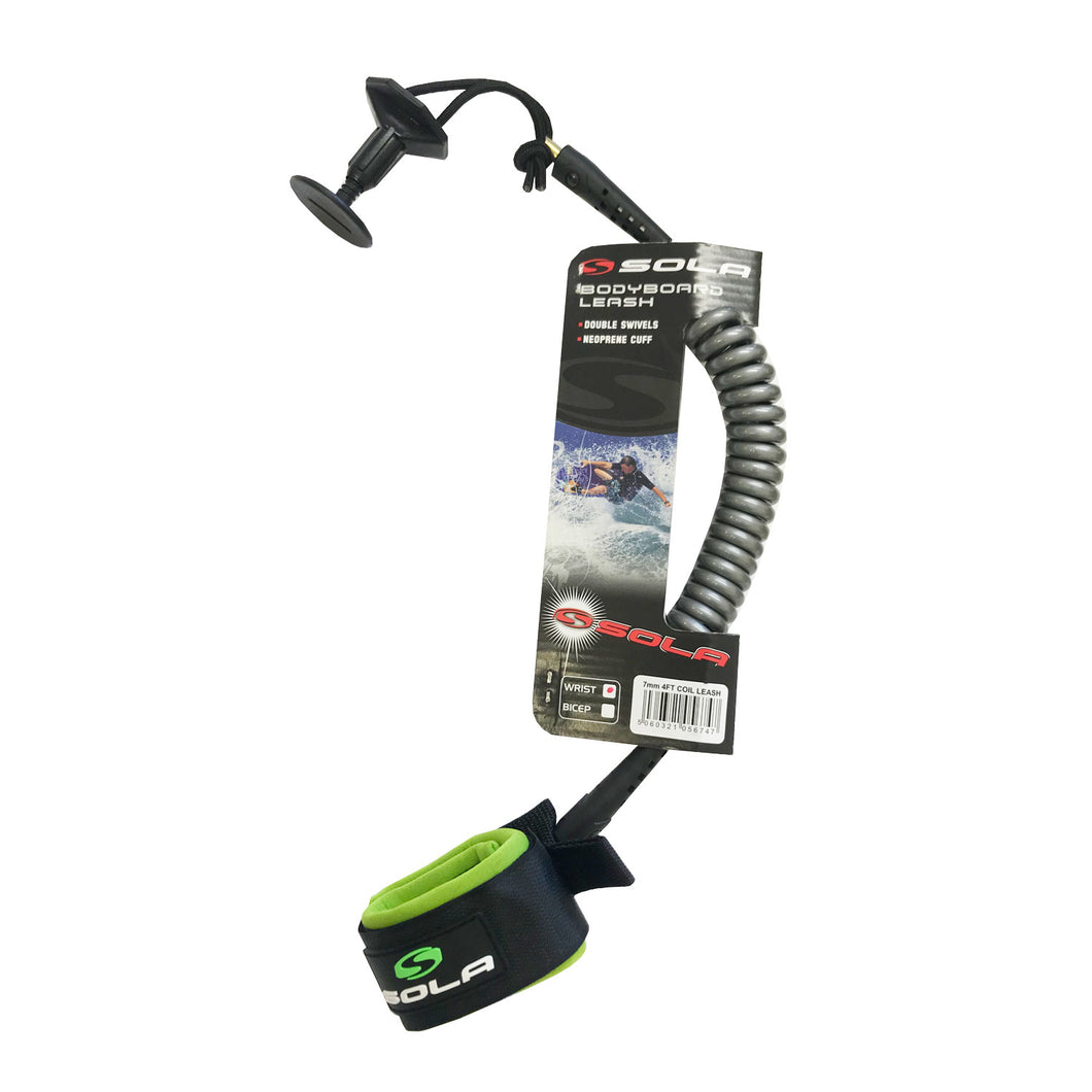 4Ft Bodyboard Coil Leash-Sola-CoastalSurf