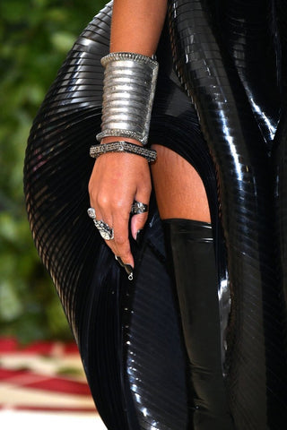 A close up shot of Solange in D.I.D. Nail Paint's 'Round Midnight