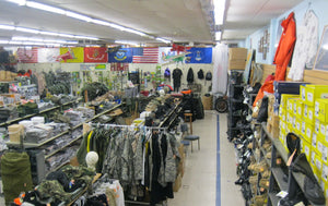 Inside Stars and Stripes Surplus