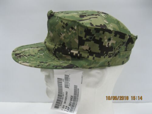 USN NWU Type III 8pt Cap sz 7 3/4 W/ Embroidered A.C.E.