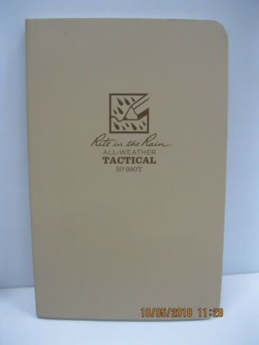 Rite in the Rain Tactical Notebook 2qty #980T & 1qty Blk Bullet Pen #96 Blk Ink