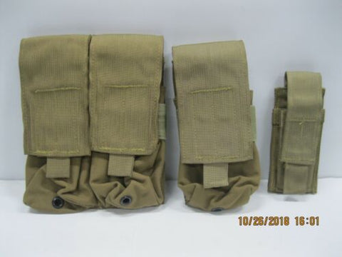 Sterile 3pc 556 Mag Pouches 1x Double & 1x Single 1x 9mm * LBT Eagle Qual