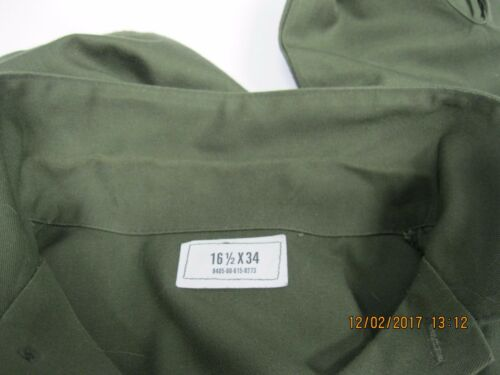 USGI Utility Shirt DURA-PRESS OG-5071986 16.5x34* Sateen style