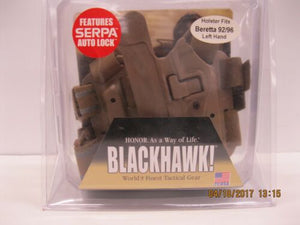BLACKHAWK 430504CT-L TAC SERPA Holster Coyote BER 92/96 Left Hand *NIP