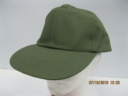 VINTAGE U.S. Army Hot Weather Cap OG-507 sz7.5 * Leather Sweat Band