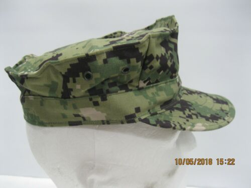 USN NWU Type III 8pt Cap sz 7 1/8 W/ Embroidered A.C.E.