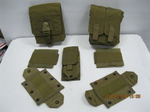 EAGLE 3 Pouch Set SAW Single Dbl Mag Pouch *GREEN LABEL
