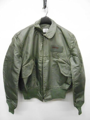 USAF USN Summer Flyer's Jacket 36/P Sage Green, XL , Has Water Spots