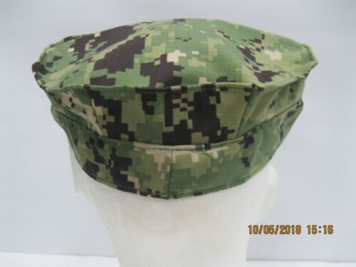 USN NWU Type III 8pt Cap sz 7 1/2 W/ Embroidered A.C.E.