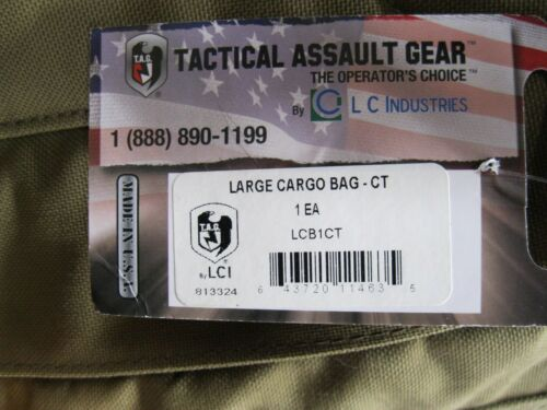 Tactical Assault Gear COYOTE Large Cargo Bag Pack Backpack LCB1CT TAG