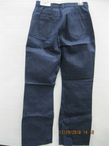 "USN Womans Utility Slacks Denim Type II sz 18R x 36.5"" Inseam * Bell Bottoms"