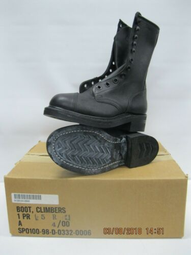 USGI BOOT , CLIMBERS 5R * Safety Toe * Gaffer