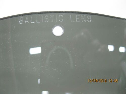 2qty Ballistic Lens for Wind Sand Dust Goggles 1 Clear 1 Smoke *NOS