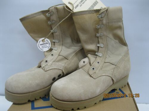 WELCO Army Combat Boot Hot Weather Combo Sole Tan 4W