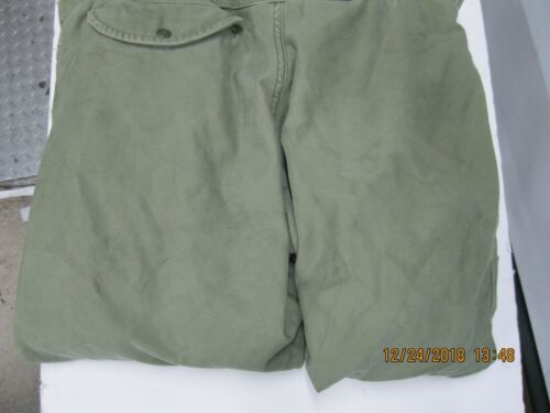 Vintage USGI Intermediate Cold Weather Trousers Small OD * Snow Ski Snowmobile
