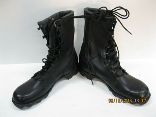 Unbranded (Bates Belleville) US made Black Military boots Size 6 N, slight wear