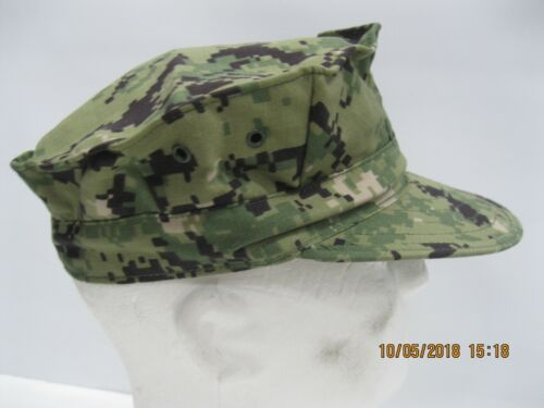 USN NWU Type III 8pt Cap sz 7 1/4 W/ Embroidered A.C.E.