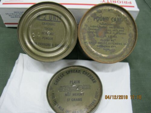 VINTAGE USGI 3pc C-Ration Components *DISPLAY ITEMS ONLY