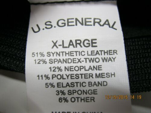 U.S. General Black Tactical Gloves XL