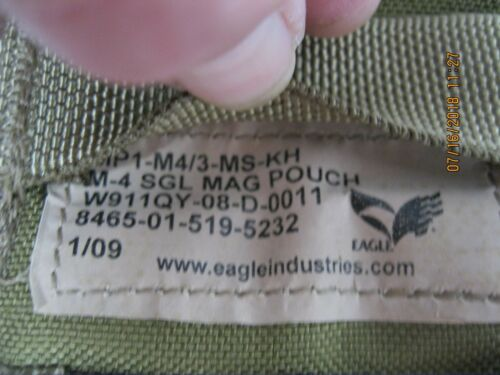 Eagle Ind Old Gen Khaki Pouch 4pc Set * Read For Contents * 2008 & 2009 Dated