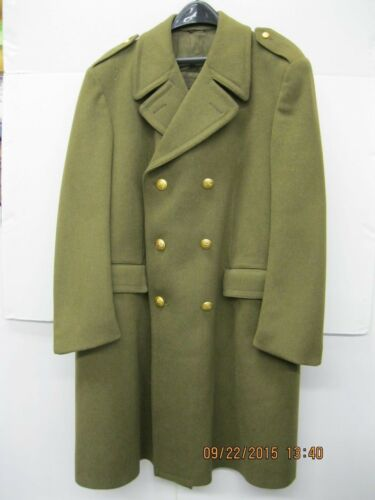 "Italian Army Officers Wool Overcoat 44"" 1977"